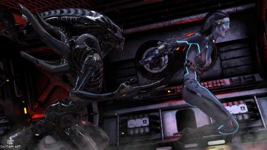 Aliens By Davian Art